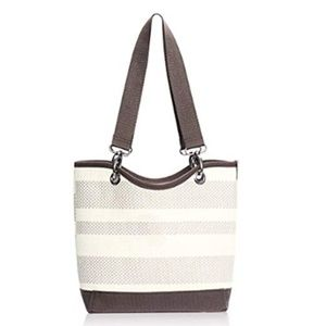 Thirty-One Canvas Crew Woven Shoulder Bag Taupe